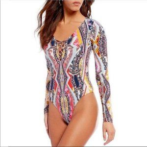Free People Bodysuit Pick A Place Top V Neck New